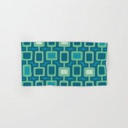 Mid Century Modern Square Columns aquamarine Hand & Bath Towel