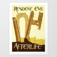 resident evil Art Prints featuring Resident Evil Afterlife by JackEmmett