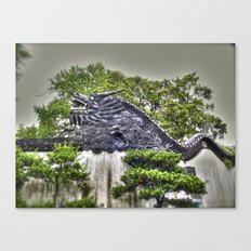 Dragon Rooftop Canvas Print
