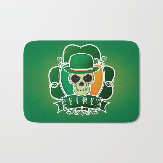 Lucky Irish  skull Bath Mat