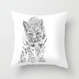 On the Prowl :: A Young Bobcat Throw Pillow