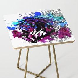 Purple Lion Spirit Side Table