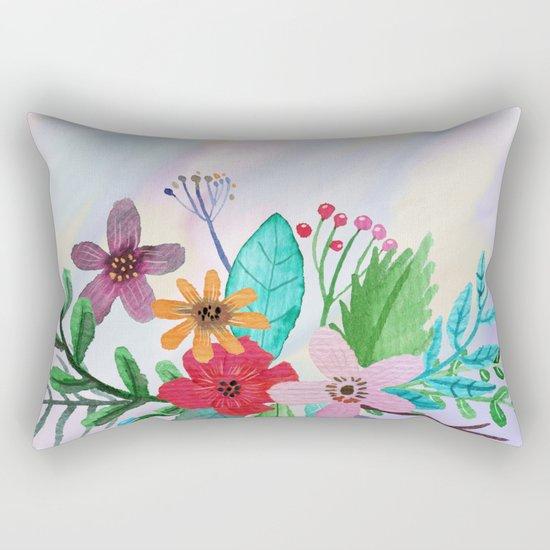 Flower bouquet watercolor #7 Rectangular Pillow
