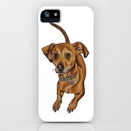 Maxwell the dog iPhone Case