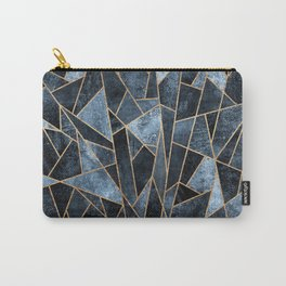 Shattered Soft Dark Blue Carry-All Pouch