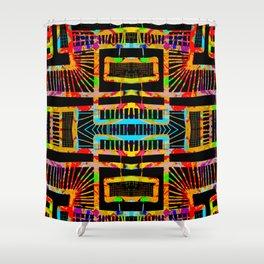 splatter paint design, modern abstract ladders Shower Curtain