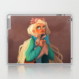 Rabbit girl illustration fantastic Laptop & iPad Skin