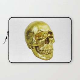 Goldish Skull Laptop Sleeve