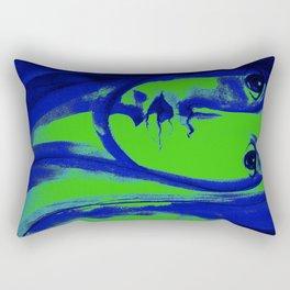 SHADES OF BLUE & GREEN WOMAN Rectangular Pillow