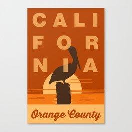 Orange County - California. Canvas Print
