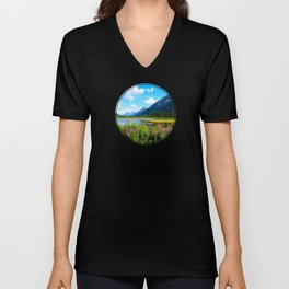 God's Country - Summer in Alaska Unisex V-Neck