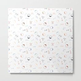 Ditzy Particle Physics on White Metal Print