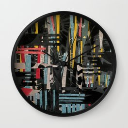 The Paper City- Abstract Landscape Wall Clock