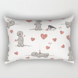 Broken hearted Voodoo Dolls Rectangular Pillow
