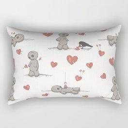 Broken hearted Voodoo Dolls Rectangular Pillow