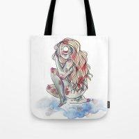 cyclops Tote Bags featuring Cyclops by MarieBoiseau