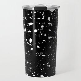 Retro Speckle Print - Black Travel Mug