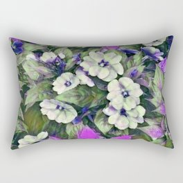 Flowerful Lavender Rectangular Pillow