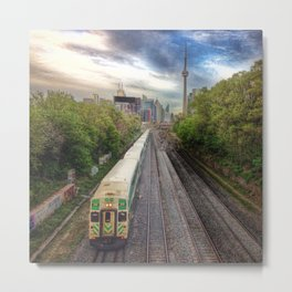 Go Train Near Downtown Toronto Metal Print