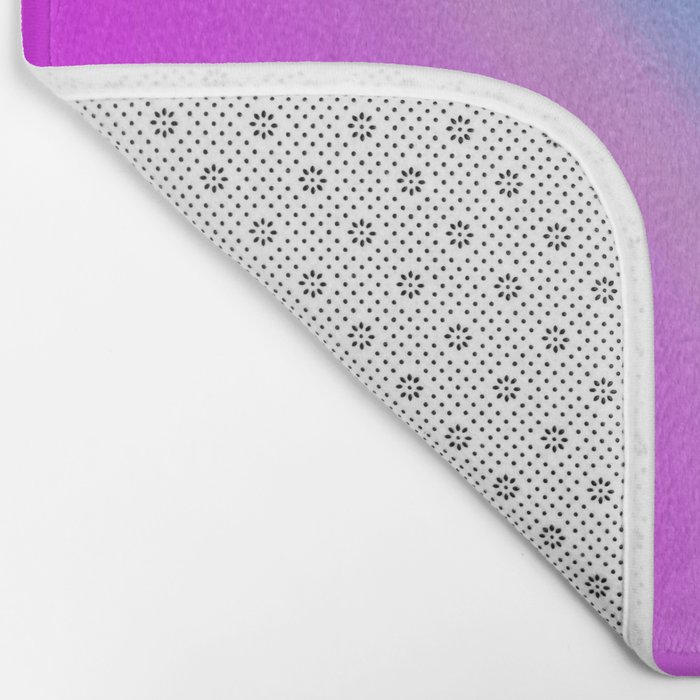 pink blue purple Bath Mat