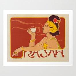 Rajau coffee poster by Henri Meunier, 1897 Art Print