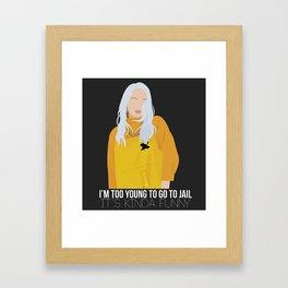 Billie Eilish Phrases Framed Art Print