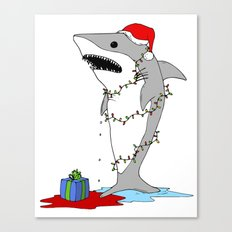Santa Shark Canvas Print