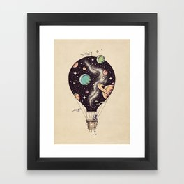 Interstellar Journey Framed Art Print