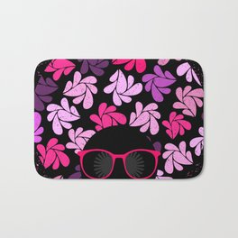 Afro Diva Pink Purple Bath Mat