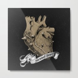 a heart that survived Metal Print