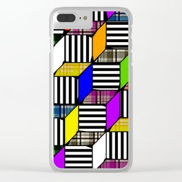 Plaid Steps Clear iPhone Case