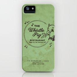 Whistle Pig Restaurant iPhone Case