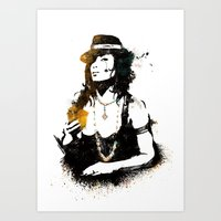 poker Art Prints featuring Poker by Oody