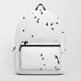 The Black Birds (Black and White) Backpack