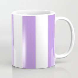 Stripes (Parallel Lines) - Purple White Coffee Mug