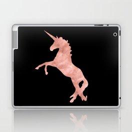 Unicorn Pink Rose Gold Black Laptop & iPad Skin