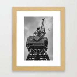 Dockyard crane 30 Framed Art Print