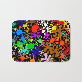 Colourful Fun Paint Blots and Stains Bath Mat