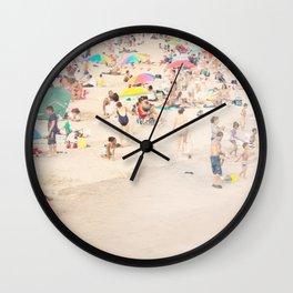Beach Crowd Wall Clock