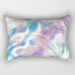 Pastel Penny the Yorkipoo art Rectangular Pillow