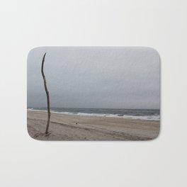 Cloudy Beach Day Bath Mat