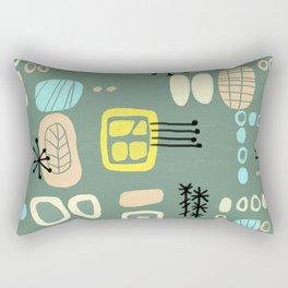 Mid Century Mod Digital Bark cloth Rectangular Pillow