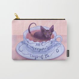 Not Everone's Cup Of Tea - Sphynx Cat - Part 2 Carry-All Pouch