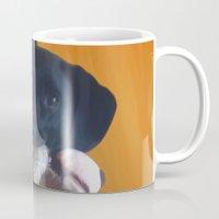 nemo Mugs featuring Nemo the Dog by Allyson Rico