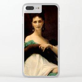 """Alexandre Cabanel """"La Comtesse De Keller (marquise de Saint Yves d'Alveydre)"""" Clear iPhone Case"""