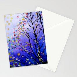 sparkling winter night sky Stationery Cards