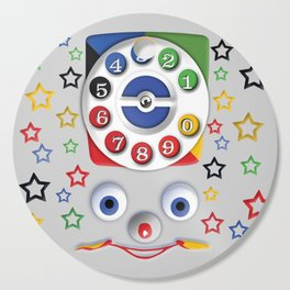 Classic Retro vintage Smiley Toys Dial Phone Cutting Board