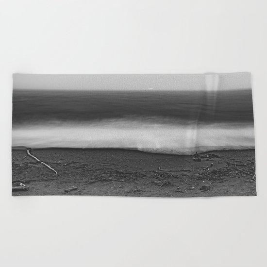 Ocean - 10 Black and White Beach Towel