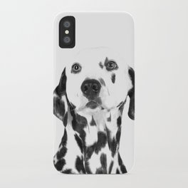 Black and White Dalmatian iPhone Case