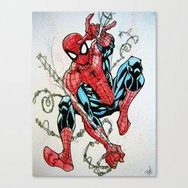 Wall Crawler Spider-Man Canvas Print